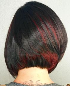 Red Peek-A-Boo Highlights For Brunettes