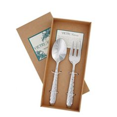 Italian Artisans forge each piece of Martellato adding hammered detail. A casual flatware collection, Martellato pairs perfectly with VIETRI s Cucina Fresca Family of Dinnerware. Heavy gauge 18/10 stainless steel combined with years of craftsmanship result in a well-balanced, weighty flatware from www.laterrinedirect.com