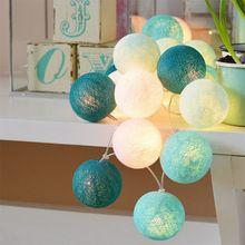 20led Cotton Ball christmas String Light for Wedding Party Christmas Decoration Lighting(China (Mainland))