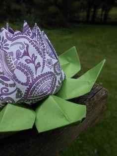 Purple Passion Origami Lotus. Gift Wedding by TreeTownPaper, $9.00