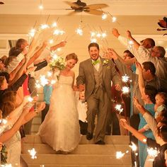 There's something magical about a sparkler send-off!