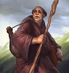 Meetru Cassemas, a mage skilled mainly in the air, mind and sound lores and from the village Lewendo west of the Minaeth mountains, look back in horror at the daemoni warriors down in the valley.