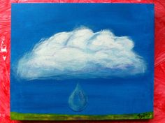 Cloud study #2. Acrylic paint. Tiffany 2013