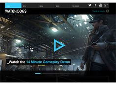 An amazing one page video game website that is navigated by a ...