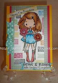 Big Anya blooms with kaisercraft tape stamps