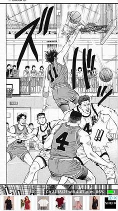 Slam Dunk, Basketball Teams, Slammed, Manga, Reading, Exercise, Drawing Drawing, Manga Anime, Manga Comics