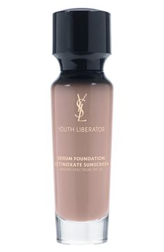 (April 14, 2014) Yves Saint Laurent 'Youth Liberator' Serum Foundation Broad Spectrum SPF 20  in #B70 available at #Nordstrom UPDATE May 7, 2014 - first I love the YSL scent of this foundation. Second, it covers very well and does not settle into smile lines or appear in any dry patches. Anti aging serum in the formula. Recommend! ⭐️