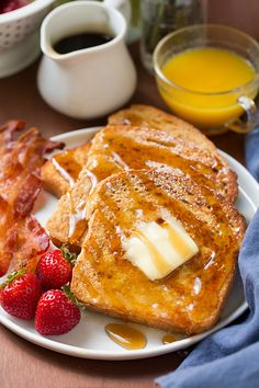 French Toast - this is my favorite recipe for french toast! The addition of flour makes it more like a batter and keeps the french toast fluffy.