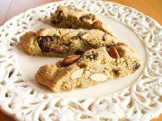 Biscotti med kanel, mandler og sjokolade