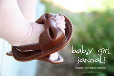 diy leather baby sandals
