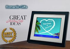 Personalized gifts - romantic sky writer clouds gift
