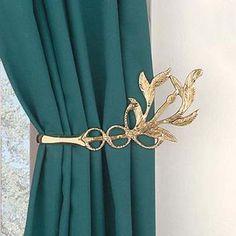 gold leaf curtain holdback - Google Search