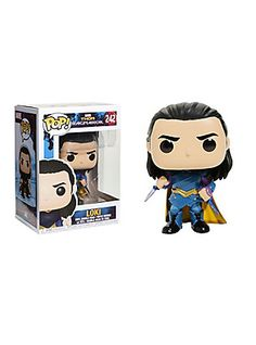 Loki from Marvel's upcoming blockbuster, Thor: Ragnarok , comes alive as an adorable collectible Pop! vinyl bobble-head from Funko. Marvel 242 3 tall Vinyl Imported By Funko Loki Funko Pop, Funko Pop Avengers, Funko Pop Toys, Pop Heroes, Comic Movies, Pop Vinyl Figures, Bobble Head, Thor, Dc Comics