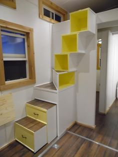 A 144 square feet tiny house on wheels built by Upper Valley Tiny Homes in Cedar City, Utah.