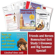 Friends and Heroes Homeschool Unit #1 Giveaway (ends 8/30)