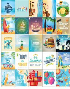 Free Printable-Summer Inspired Planner Sticker Sheet