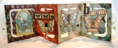 Stunning Accordion Album project by Candy Colwell. You really need to see the butterfly centers - amazing! CREATIVITY IS CONTAGIOUS: CAN YOU MAKE THE CUT?? DIE CUT THAT IS ...