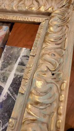 Chalk Paint Mirror, Chalk Paint Colors, Mirror Painting, Painting Frames, Chalk Paint Techniques, Furniture Painting Techniques, Distressed Furniture Painting, Chalk Paint Furniture, Furniture Fix