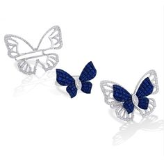 Stenzhorn Mademoiselle B sapphire butterfly ring