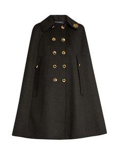 5e5be2c7cd39a DOLCE  amp  GABBANA Embellished-collar wool cape.  dolcegabbana  cloth  cape