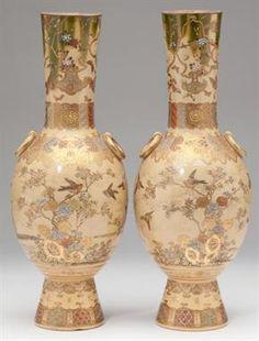 Late 19th century satsuma vases