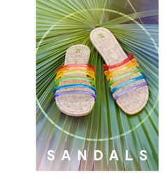 Color me Casual rainbow jelly sandals for Spring and Summer. Find them at Modcloth (aff)