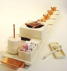 Modern Turkish coffee set, Esli Alovi design, Israel