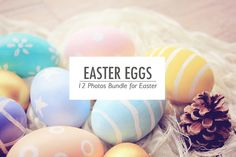 Easter Eggs Photos Collection by Nuchylee Photo on Creative Market