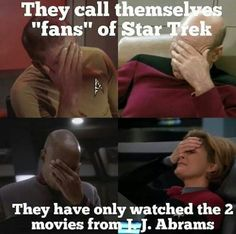At least I already watch all star trek movie, but I just watched some episode of TOS, TNG, and ENT. So, I can call myself as Trekkie, right? please, let be a wee Trekkie!