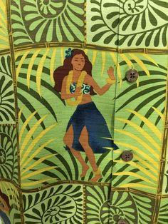 Tommy Bahama Hula Girl Leis Luau Green Silk Hawaiian Camp Shirt Mens M #TommyBahama #Hawaiian