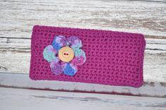 Clutch/Bag Fuchsia Flower by BellaHenryBoutique on Etsy, $20.00