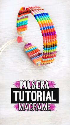 Thread Bracelets, Embroidery Bracelets, Bead Loom Bracelets, Bracelet Crafts, Braided Bracelets, Macrame Bracelets, Handmade Bracelets, Macrame Bracelet Patterns, Macrame Patterns