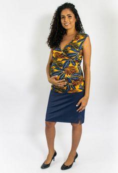 b033b1fd0 Blusa regata gestante e amamentação Alecrim - Mamme moda materna - moda  gestante - pós-