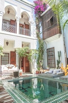Authentic cuisine, a charming courtyard with swimming pool, and stylish, Moroccan inspired interiors make Riad Yasmine one of Marrakech's prettiest accommodations. marokko Marrakech's Riad Yasmine Is an Insta-Worthy Escape. Best Cheap Vacations, Cheap Places To Travel, Dream Vacations, Places To Go, Vacation Places, Cheap Travel, Cheap Trips, Best Vacation Spots, Vacation Travel