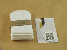 Glassine Bags set of 50 2 x 3.5 small via Etsy