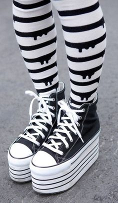 pants tight pastel goth cute kawaii converse platform shoes shoes