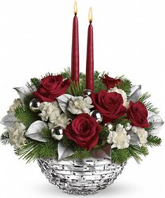 Christmas Teleflora Christmas Sparkle Of Christmas Centerpiece