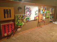 Sensory wall-a Fun toddler exploration