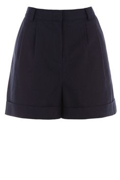 This pair of tailored shorts is constructed from linen and features a high-rise with belt loops around the waistband, zip-fly fastening and two side pockets. Length of short 36cm approx. Height of model shown: 5ft 10 inches/178cm. Model wears: UK size 10.Fabric:Main: 41.0% Viscose