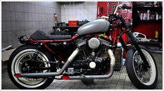 "Blitz's '91 Harley 883 - ""Gentle BoardTracker"" - Pipeburn - Purveyors of Classic Motorcycles, Cafe Racers & Custom motorbikes"