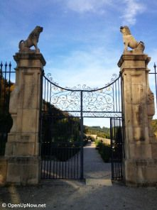 Entrance to the gardens of the New Castle of Ansembourg, Luxembourg © http://travelwithmk.com
