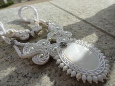Soutache neclace with shell. Owned design. Jewelery, Shells, Earrings, Design, Fashion, Jewlery, Seashells, Ear Rings, Fashion Styles