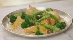 Kip met curry, rijst en bimi   Dagelijkse kost