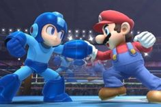Mario: Welcome to a my game a megaman.  Do you have any a ravioli?    Megaman: Nope, but I do have a robot dog.  Will that do?    Mario: I trade a you Yoshi for it!!!