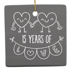 Shop Anniversary Gift Chalk Hearts Ceramic Ornament created by CelebratingLove. 15 Year Wedding Anniversary, Anniversary Ideas For Him, Wedding Aniversary, Anniversary Decorations, Anniversary Funny, Anniversary Cards, Birthday Wishes, Birthday Quotes, Birthday Greetings