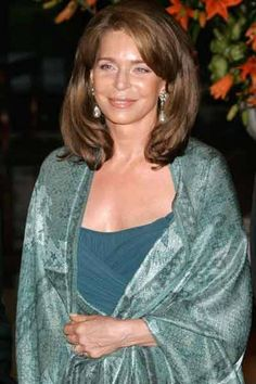 Queen Noor of Jordan arrives for an auction in Monaco organized by Sotheby's auction house