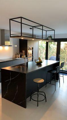 living room ideas – New Ideas Rustic Kitchen Design, Kitchen Room Design, Home Room Design, Dream Home Design, Home Decor Kitchen, Interior Design Kitchen, Home Kitchens, Kitchen Ideas, Cuisines Design