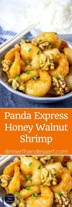 Panda Express Honey Walnut Shrimp are fried with a tempura batter and quickly tossed in a honey sauce and sweetened walnuts. Panda Express Honey Walnut Shrimp are fried with a tempura batter and quickly tossed in a honey sauce and sweetened walnuts. Copycat Recipes, Fish Recipes, Seafood Recipes, Asian Recipes, Chicken Recipes, Cooking Recipes, Healthy Recipes, Chinese Shrimp Recipes, Walnut Chicken Recipe Chinese