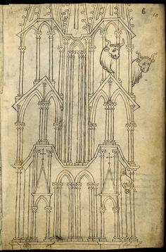 Le carnet de Villard de Honnecourt (vers 1220-1230), fol. 19 - Paris, Bibliothèque nationale de France, Département des manuscrits, Français 19093