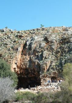"""Caesarea Philippi Temple of Pan, """"Gates of Hell"""" cavern. Matthew 16:13-18 Jesus was in this city. See blog for more."""